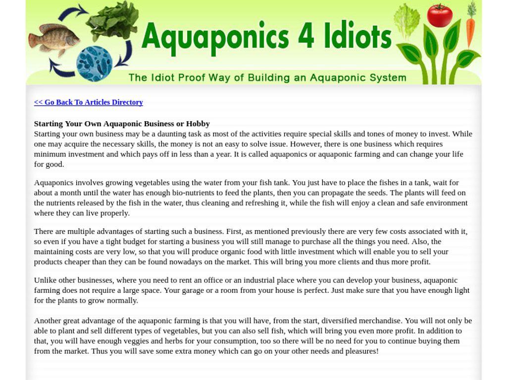 Gallery - Aquaponics 4 Idiots Review