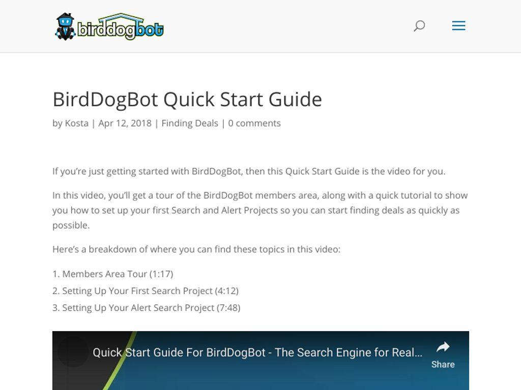 Gallery - Bird Dog Bot Review