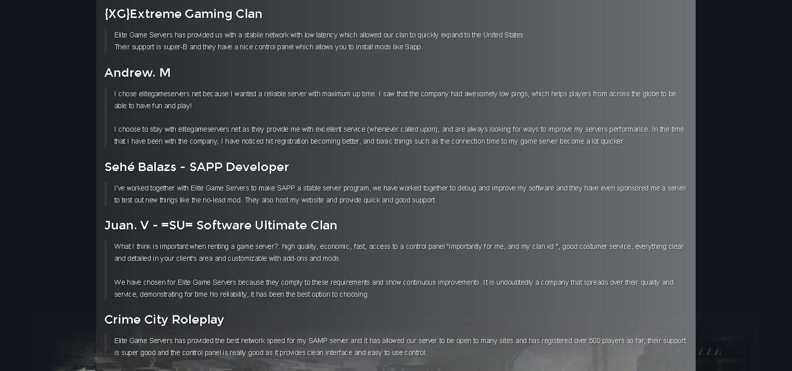 Gallery - Elitegameservers Review