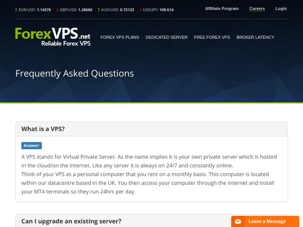 Gallery - ForexVPS.net Review