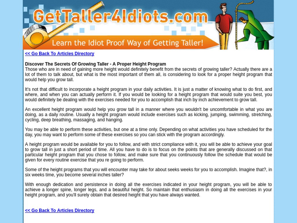 Gallery - Grow Taller 4 Idiots Review