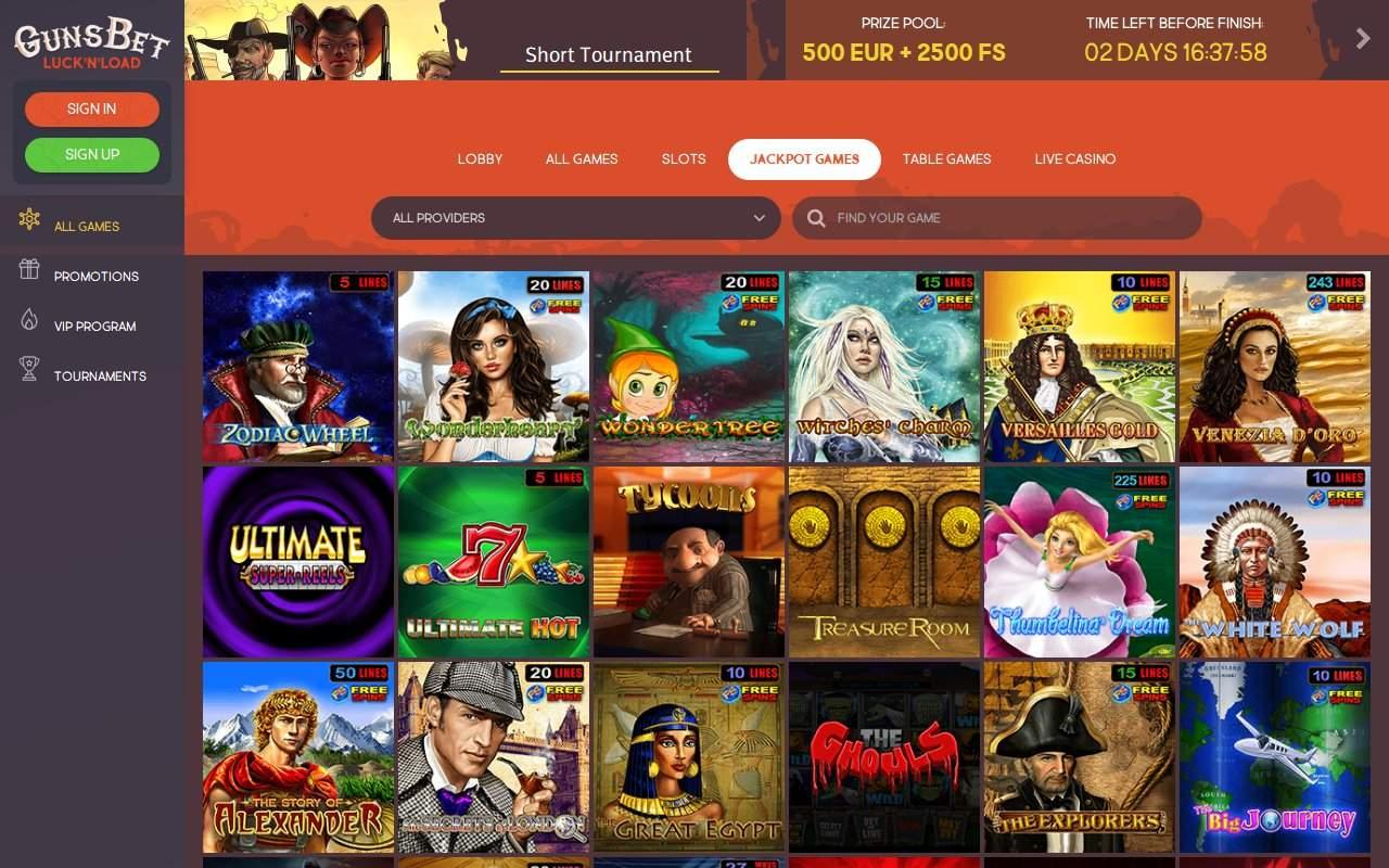 Gallery - Gunsbet Casino Review