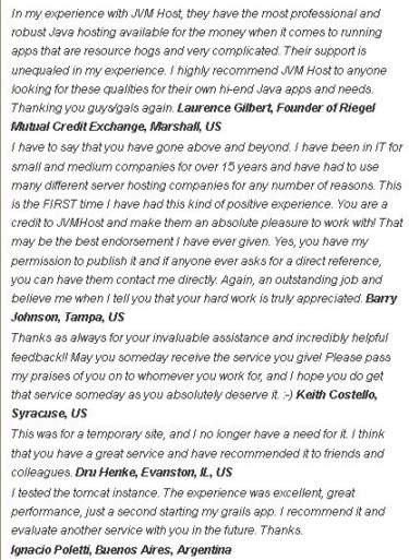 Gallery - JVM Host Review