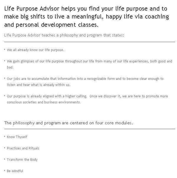 Gallery - Life Purpose Advisor Review