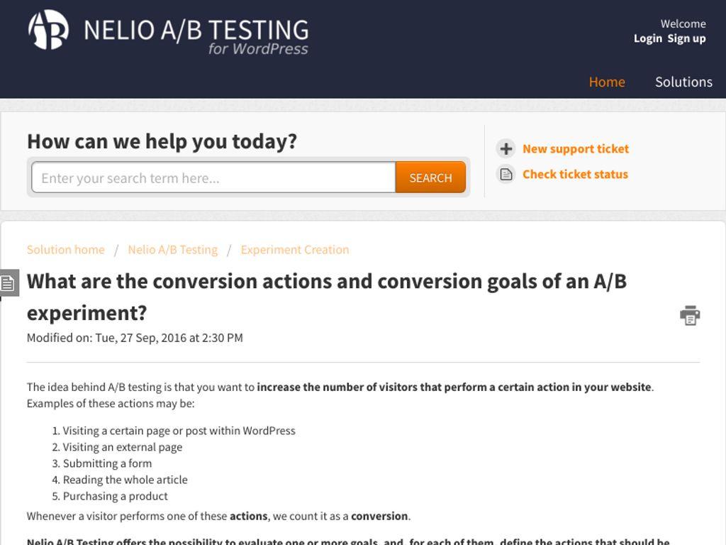 Gallery - Nelio AB Testing Review