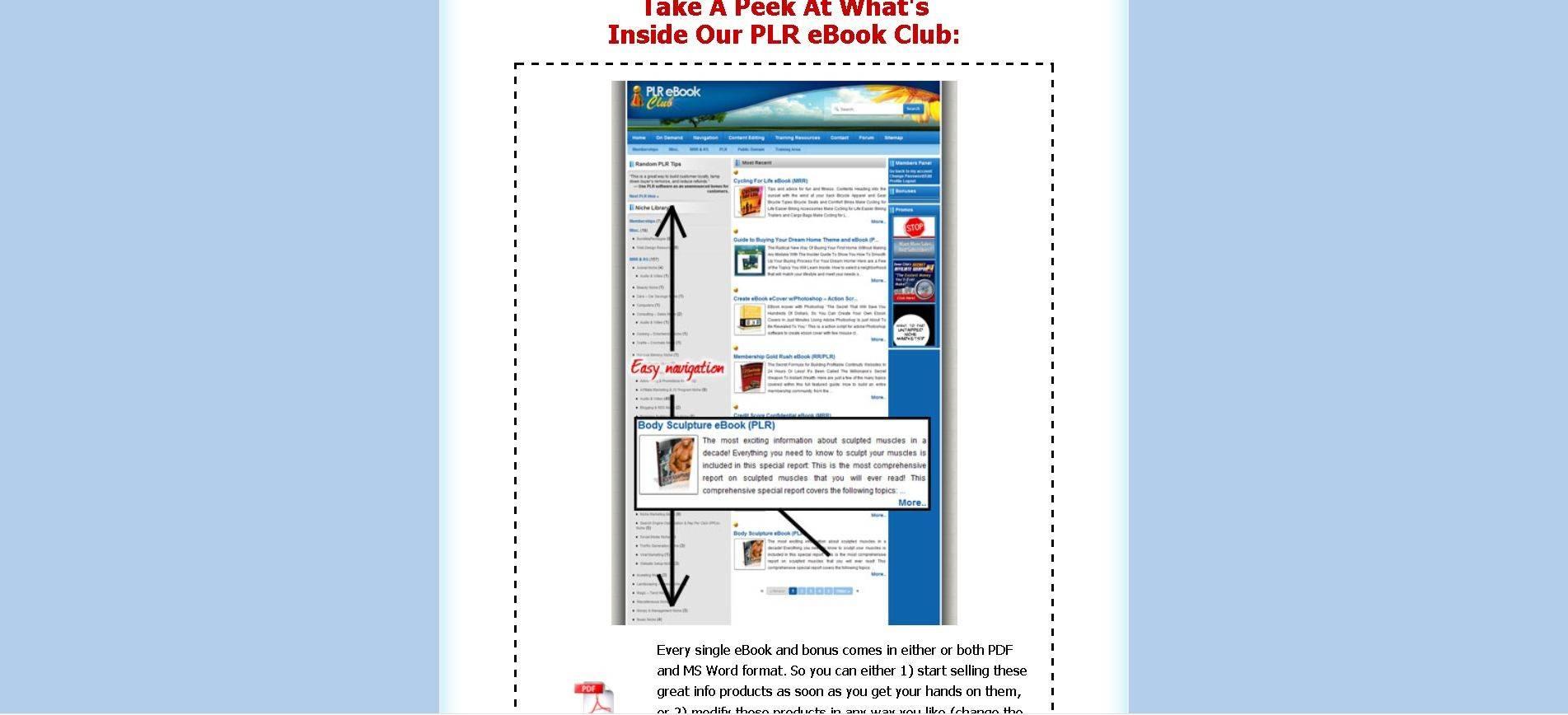 Gallery - PLR Ebook Club Review