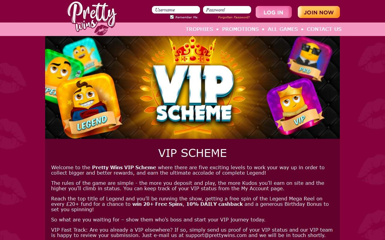 Gallery - Pretty Wins Casino Review