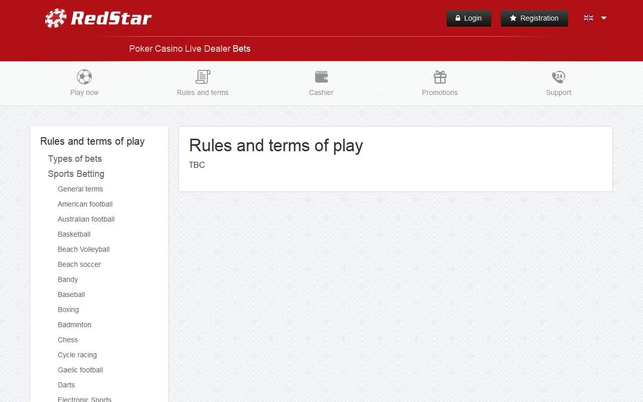 Gallery - RedStarBets.eu Review
