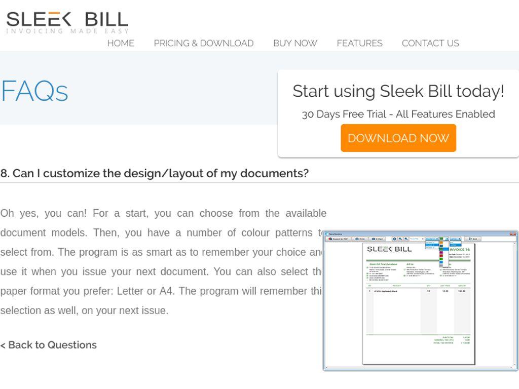 Gallery - Sleek Bill Review