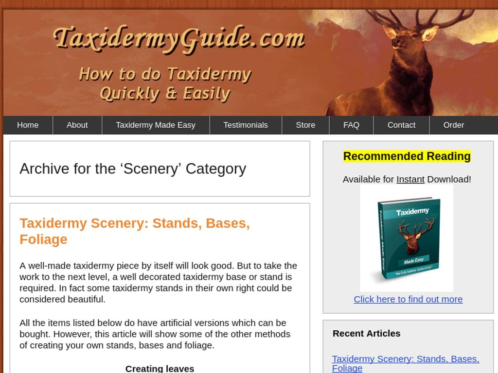 Gallery - Taxidermy Made Easy Review