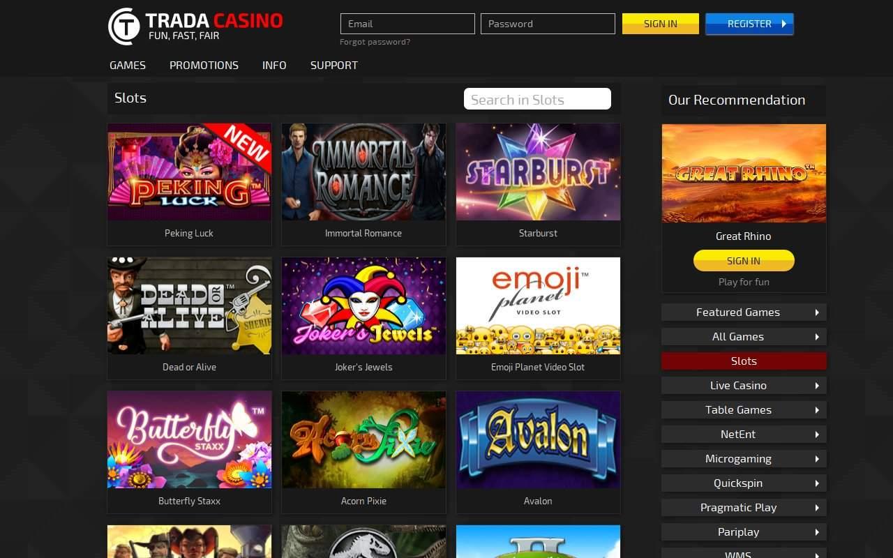 Gallery - Trada Casino Review