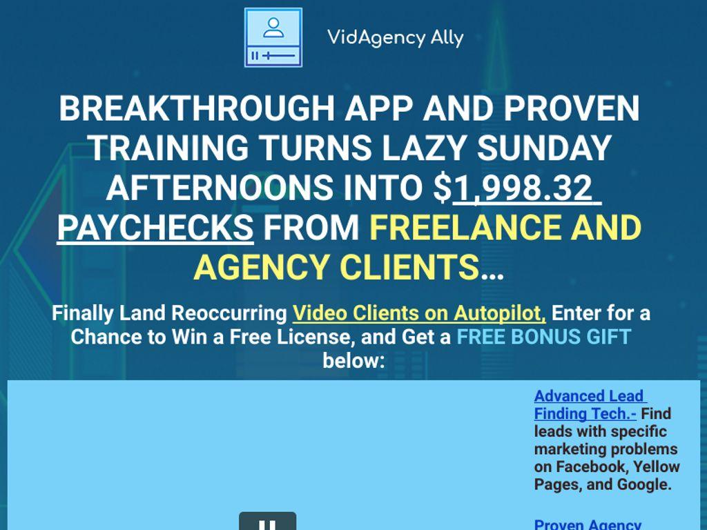 Gallery - VidAgency Ally Review