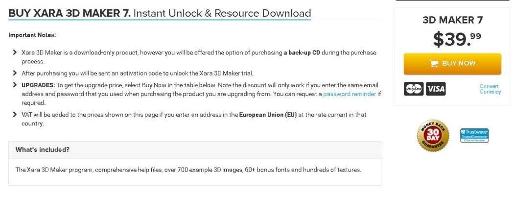 Gallery - Xara 3D Maker Review