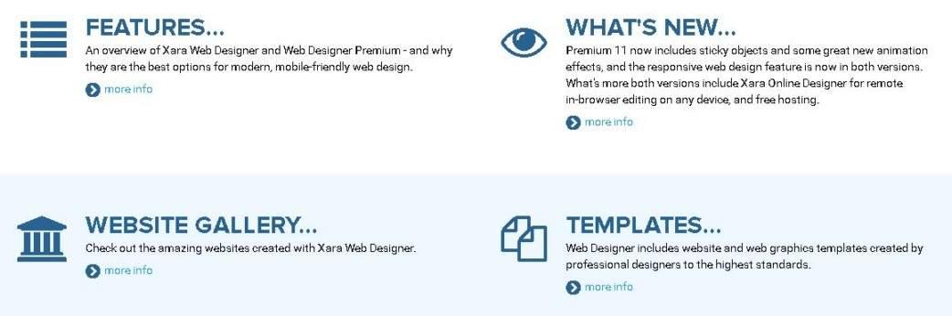 Gallery - Xara Web Designer Review