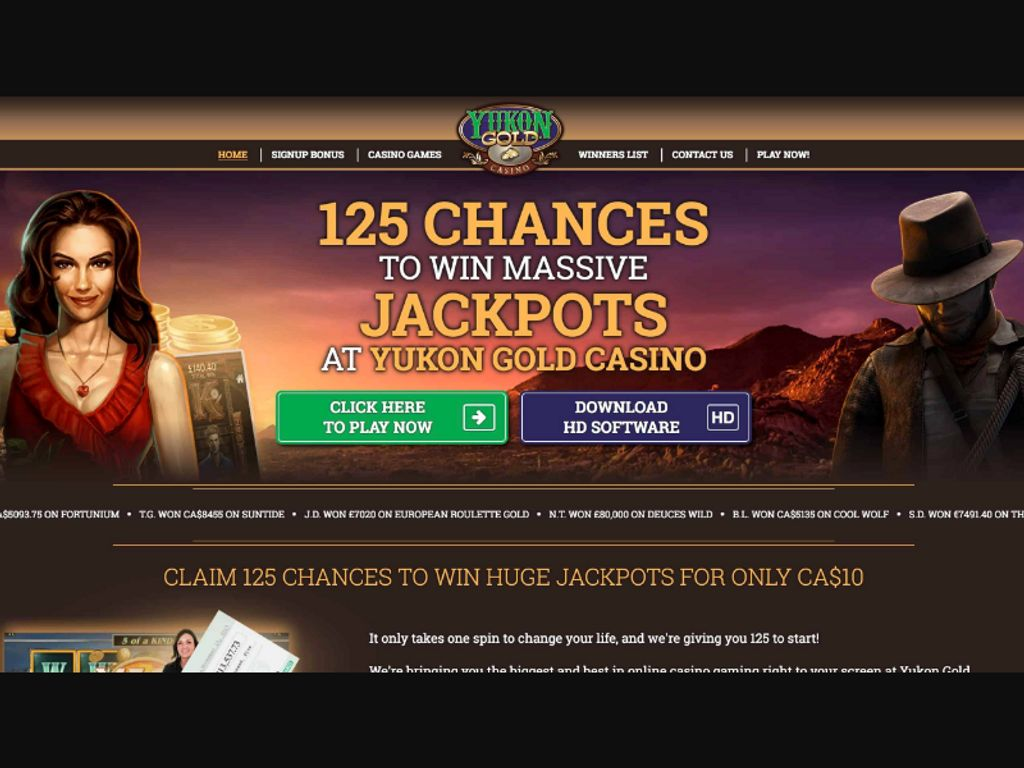 Gallery - Yukon Gold Casino Review