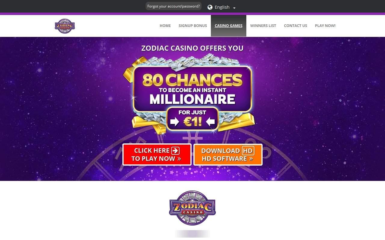 Gallery - Zodiac Casino Review