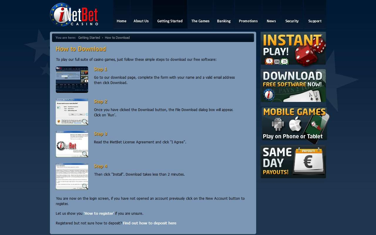 Gallery - iNetBet Casino Review