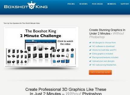 Homepage - Boxshot King Review