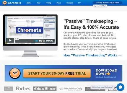 Homepage - Chrometa Review