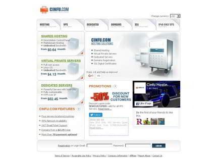 Homepage - Cinfu Hosting Review