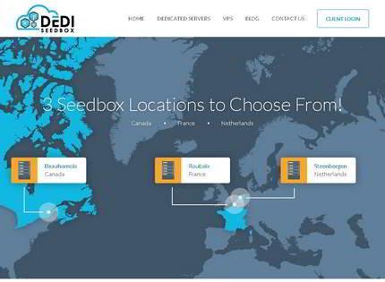 Homepage - Dedi Seedbox Review