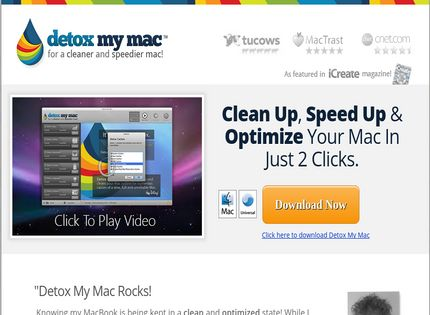 Homepage - Detox My Mac Review