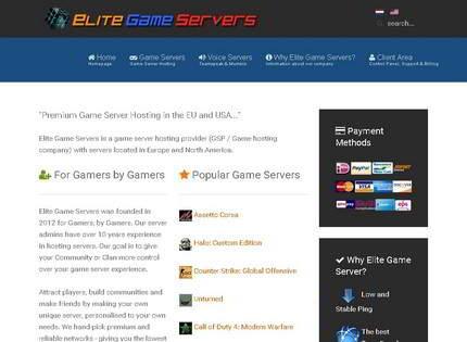 Homepage - Elitegameservers Review