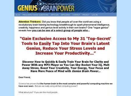 Homepage - Genius Brain Power Review