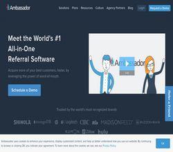 Homepage - GetAmbassador Review