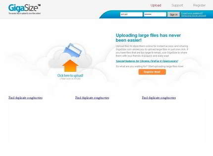 Homepage - GigaSize Review
