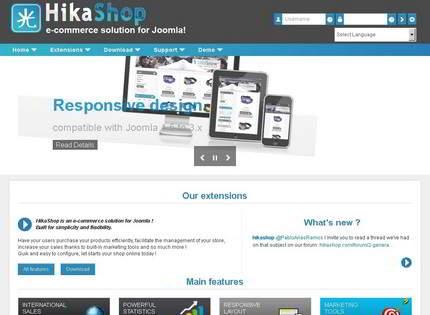 Homepage - HikaShop Review