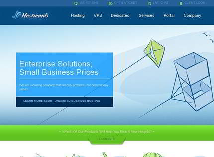 Homepage - Hostwinds Review
