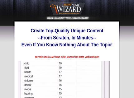 Instant Article Wizard Reviews - 2 Questions & Reviews (2019 Update) -  Affgadgets com
