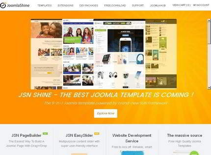 Homepage - JoomlaShine Review