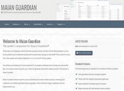 Homepage - Maian Guardian Review