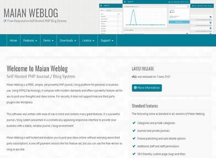 Homepage - Maian Weblog Review