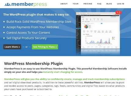 Homepage - MemberPress Review
