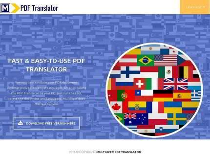 Homepage - Multilizer PDF Translator Review