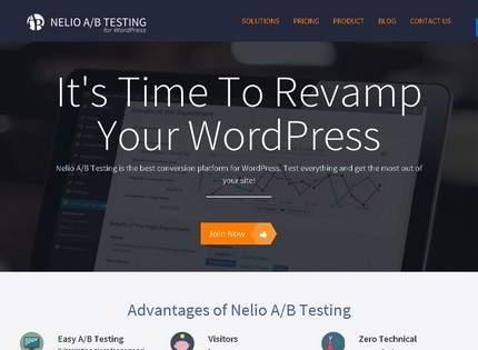 Homepage - Nelio AB Testing Review