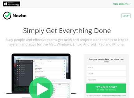 Homepage - Nozbe Review