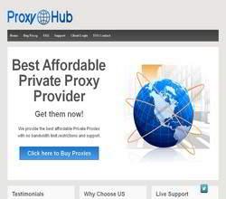 Homepage - Proxy Hub Review