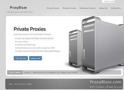 Homepage - ProxyBlaze Review