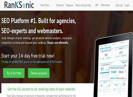 Homepage - RankSonic Review