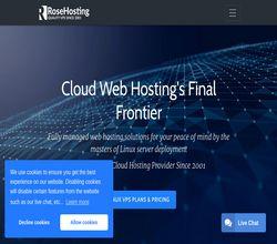 Homepage - RoseHosting Review