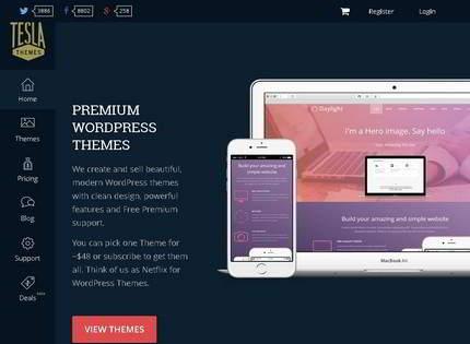 Homepage - TeslaThemes Review