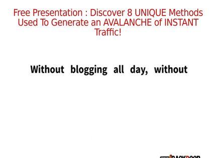 Homepage - Traffic Backdoor Review
