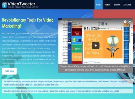 Homepage - VideoTweeter Review
