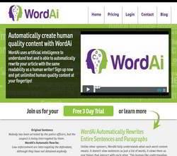 Homepage - WordAI Review