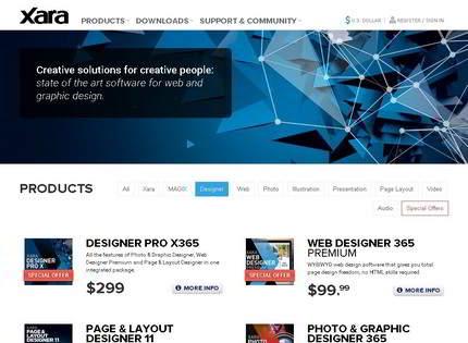 Homepage - Xara Web Designer Review