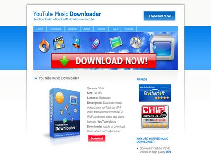 Homepage - Youtube Music Downloader Review